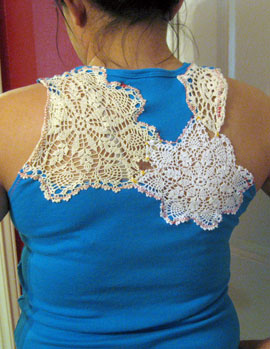 Craft Ideas Doilies on Crafts    Blog Archive Reconstruct A T Shirt With A 99 Cent Doily