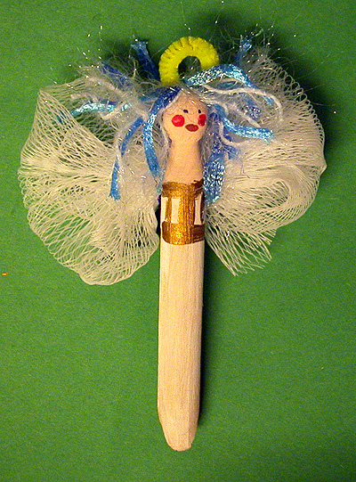 Make a Clothespin Angel Ornament