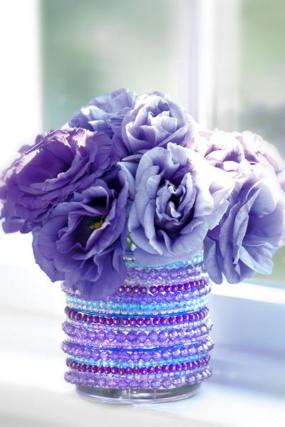 Make A Jeweled Vase Dollar Store Crafts
