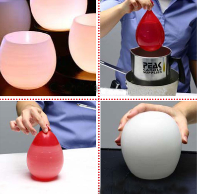 Make water balloon candle holders dollar store crafts for How to make christmas candle holders