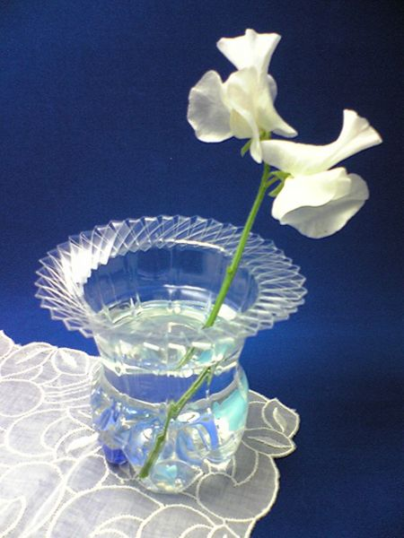 recycle a plastic bottle into a vase dollar store crafts
