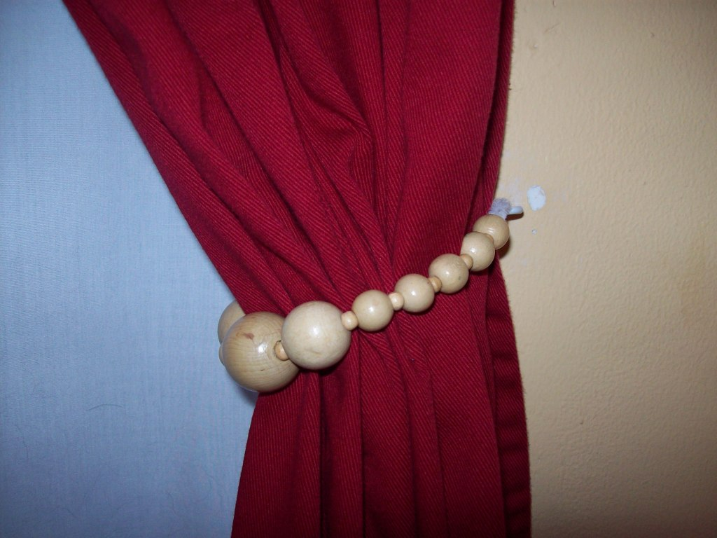 Gray And Coral Curtains Window Curtain Tie Backs