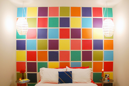 Colorful Wall Decor Stunning Make A Cheap Mosaic Wall Installation » Dollar Store Crafts Decorating Inspiration