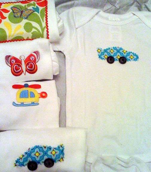 Applique Onesies With Scrap Fabric Dollar Store Crafts