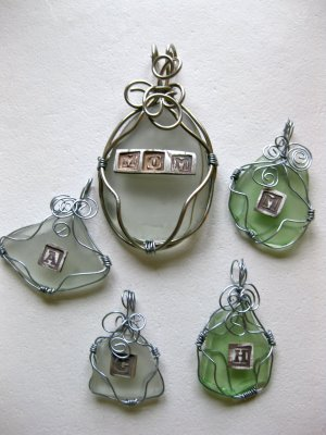gail at cant stop making things posted instructions for making these pretty sea glass pendants how fun would these be for a wedding favor - How To Make Sea Glass