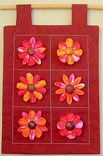 Make kanzashi from kanzashi in bloom dollar store crafts - Craft ideas for wall hangings ...