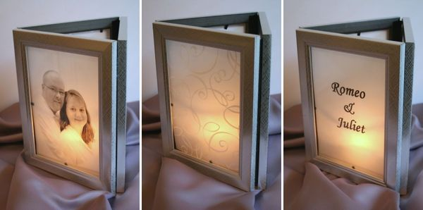 Make photo frame luminarias dollar store crafts make photo frame luminarias junglespirit Images