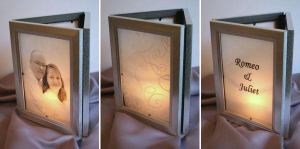 Make Photo Frame Luminarias Dollar Store Crafts