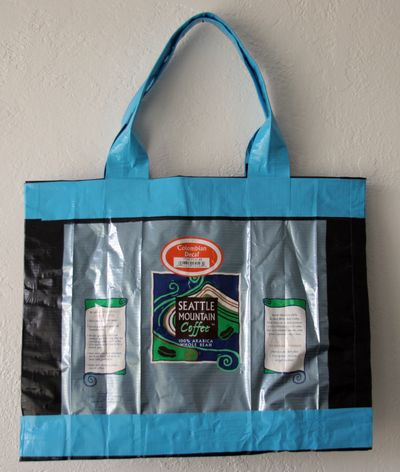 I Love The Idea Of Recycling Mylar Coffee Bags By Making Them Into Handbags Do You Sew No Use Duct Tape Came Across This Via