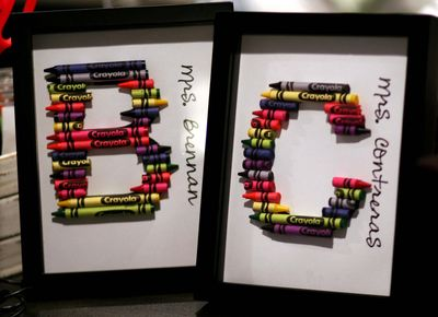 Craft Ideas August on Dollar Store Crafts    Blog Archive    Make Broken Crayon Monograms