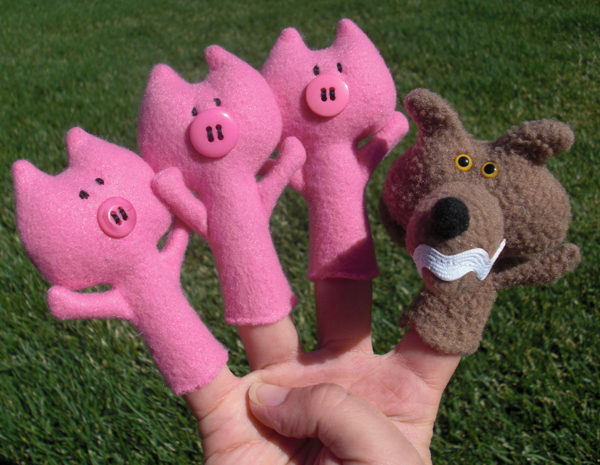 ... Little Pigs Finger Puppets Three Little Pigs Printable Puppets