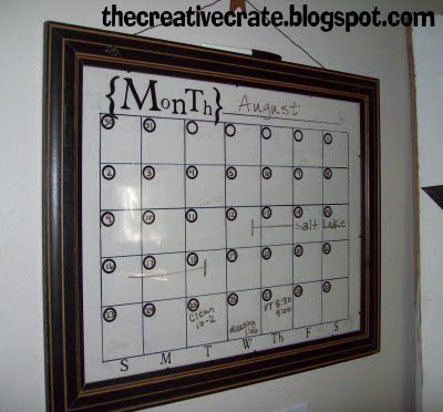 Make A Dry Erase Picture Frame Calendar 187 Dollar Store Crafts