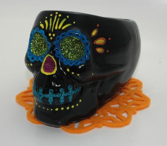 Make A Calavera Skull Centerpiece 187 Dollar Store Crafts