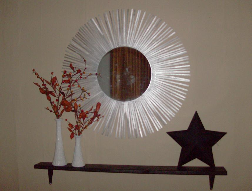 2068d9f144b5e9 Make a Silver Starburst Mirror » Dollar Store Crafts