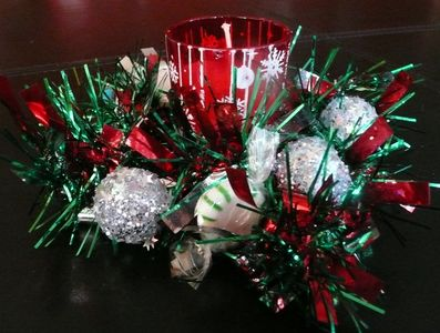 Make a recycled cd christmas candle holder dollar store for How to make christmas candle holders