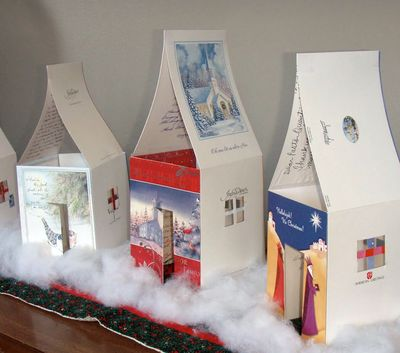 Make a Christmas Card Village