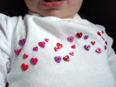 valentine button shirt