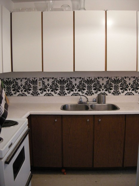 Dollar Store Rental Kitchen Makeover Dollar Store Crafts