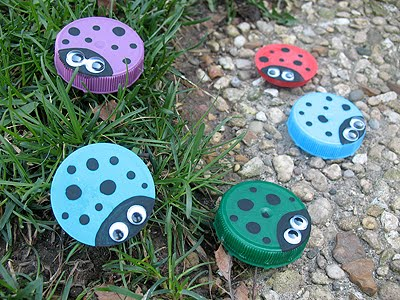 Craft Ideas Recycled Materials on Crafts With Recycled Materials So Cute I Love This Ladybug Recycled