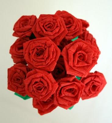 Make Crepe Paper Roses Dollar Store Crafts