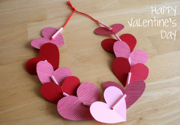 Make a valentine lei dollar store crafts for Toddler valentine craft ideas