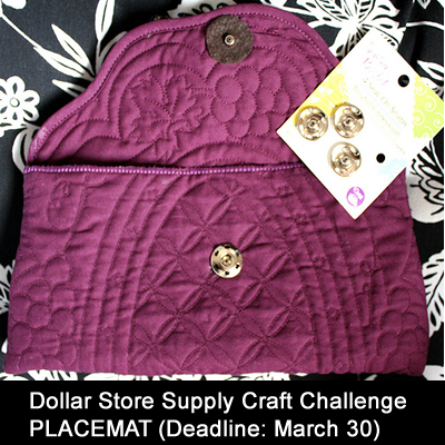 Craft Ideas Dollar Store Items on Dollar Store Crafts    Blog Archive    Supply Challenge  Placemats