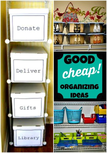 Good and cheap organizing ideas from DollarStoreCrafts.com - office organization, diy storage that fits into your decor