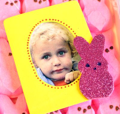 Make a Peeps-Inspired Frame » Dollar Store Crafts