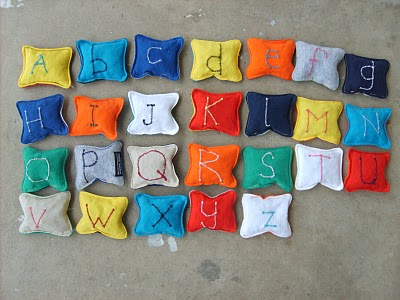 Make Recycled T Shirt Alphabet Beanbags 187 Dollar Store Crafts