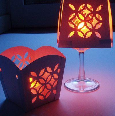 Make A Pretty Cut Paper Lamp Dollar Store Crafts