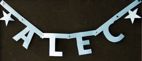 make a jointed letter banner dollar store crafts