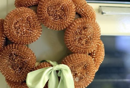 scrubber wreath