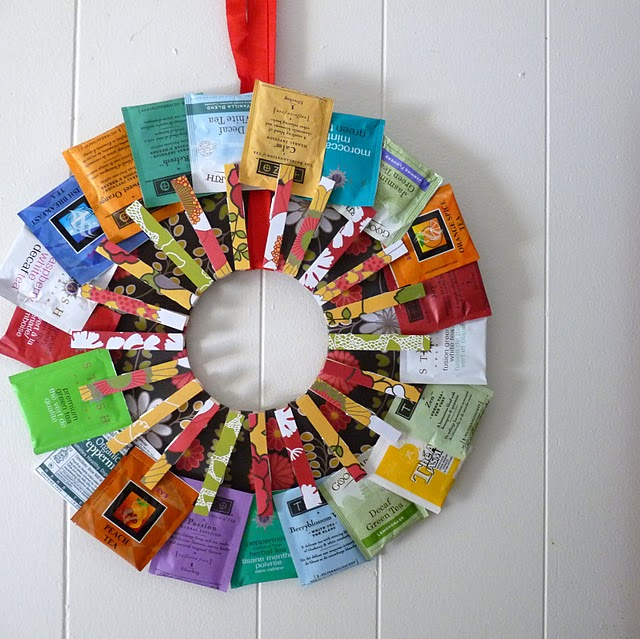 Make A Tea Wreath Dollar Store Crafts