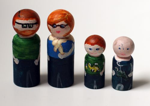 Wooden Peg Dolls From Dollar Store Crafts Skip To My Lou