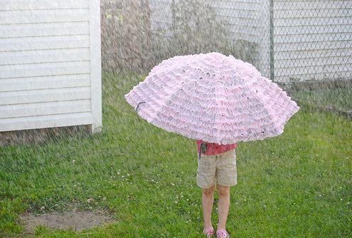 Ruffly Umbrella