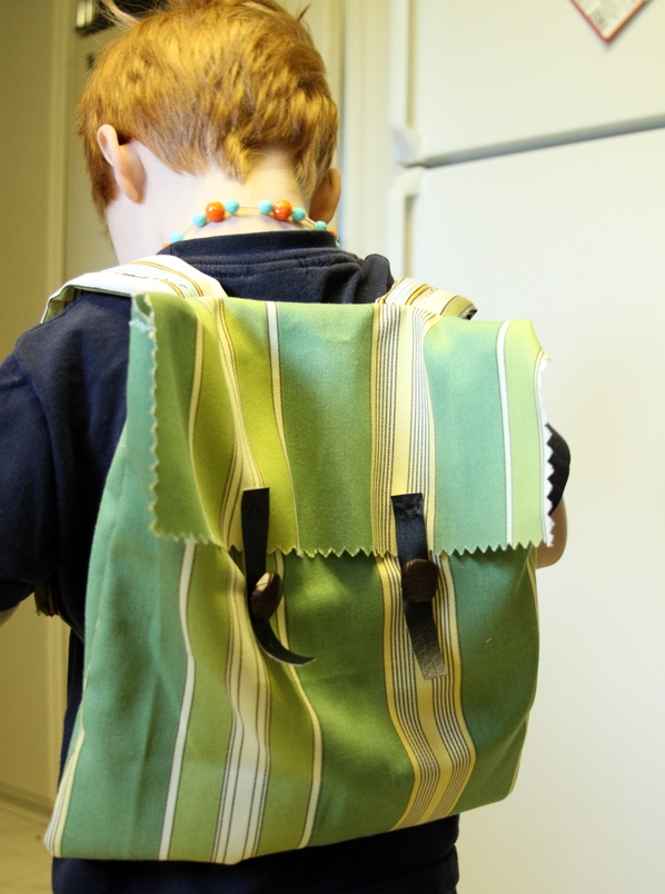 Make an Upholstery Sample Backpack – Dollar Store Crafts