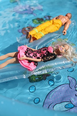 barbie pool float