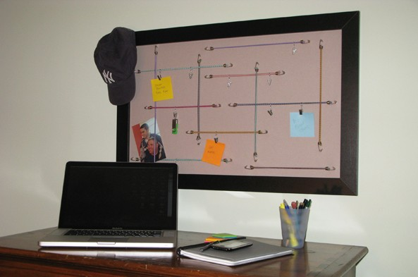 bungee cord memo board