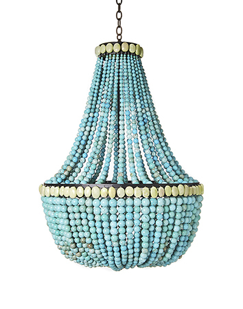 make a turquoise beaded chandelier dollar store crafts