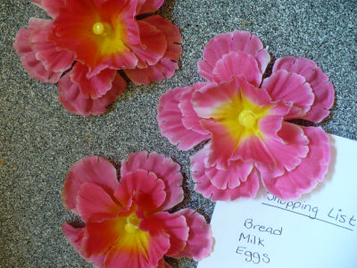 Make silk flower bulletin board pins dollar store crafts for things that fall into the categories of bright or funky when i visit the dollar store recently a bouquet of bright pink and yellow silk flowers mightylinksfo