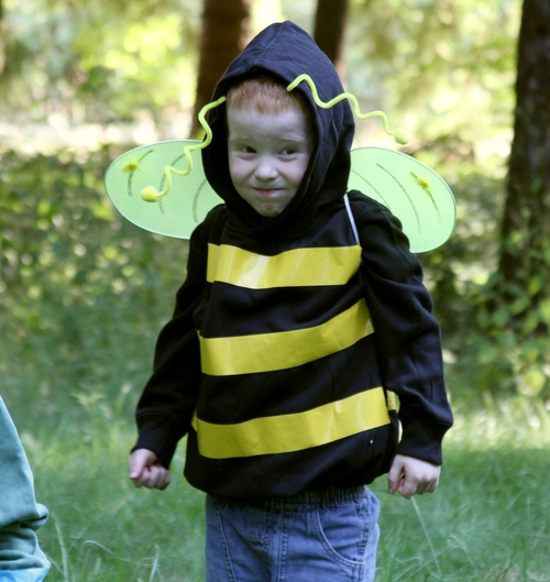 Make a no sew bumblebee costume dollar store crafts welcome to day 4 of homemade costume week this bumblebee halloween costume looks great in person and could not be simpler to make solutioingenieria Choice Image