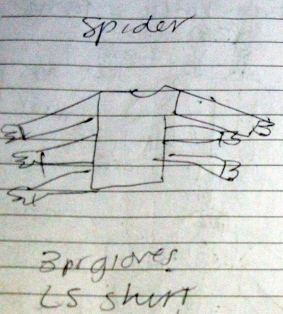 costume sketch - spider