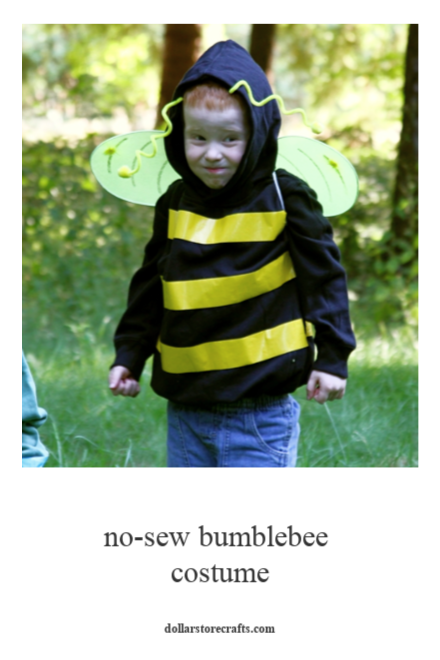 DIY No Sew Bumblebee costume
