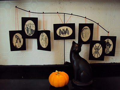 make a spooky photo display dollar store crafts. Black Bedroom Furniture Sets. Home Design Ideas