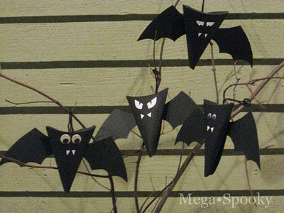 Craft Ideas Bats on Dollar Store Crafts    Blog Archive    Make Paper Bat Halloween Treat