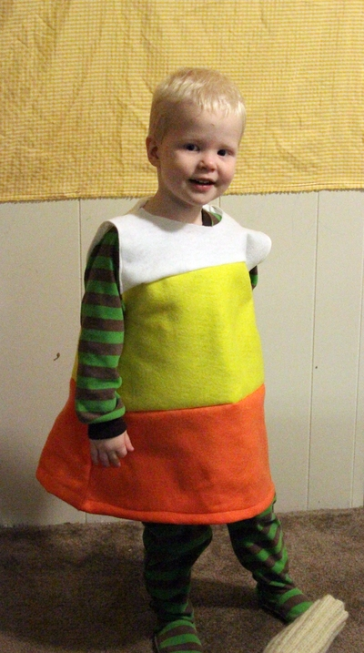 make a candy corn costume for 2 69 dollar store crafts
