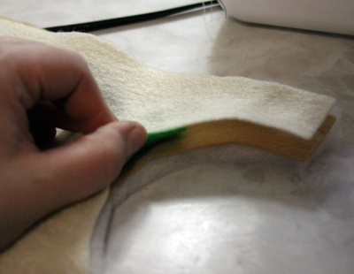 sandwich felt and batting