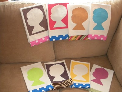 make colorful silhouette tea towels dollar store crafts