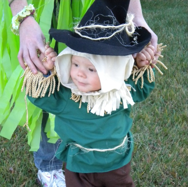 Scarecrow from Wizard of Oz Baby Costume (from here)  sc 1 st  Dollar Store Crafts & 9 Cute Baby Costumes » Dollar Store Crafts