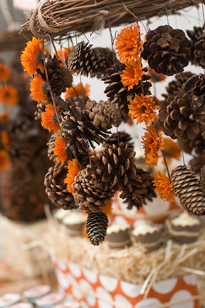 Make A Fall Pinecone Chandelier Dollar Store Crafts